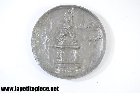 Vide poche - cendrier CHARLEVILLE (Ardennes) 1914 1915 1916 (Occupation Allemande) Monument des Ardennais 1870