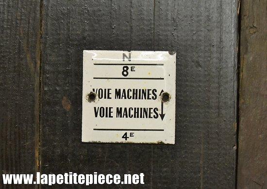 Petite plaque émaillée Machines usine