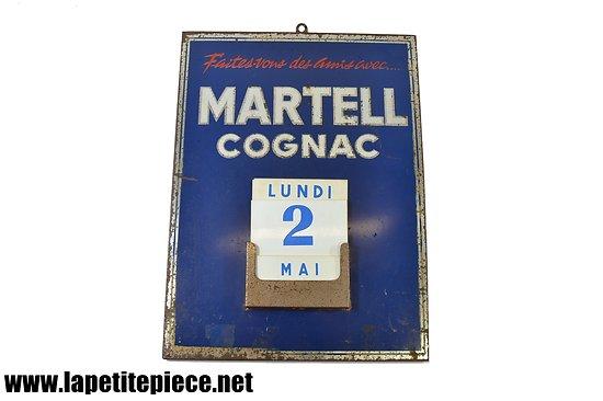 Calendrier publicitaire perpétuel Cognac Martel