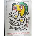 Affiche INRS 1991 par Chadebec à la manière de Picasso - Chaque chose à sa place