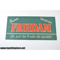 Chapeau papier publicitaire FRUIDAM ananas, Le jus de fruits de qualité - Tour de France