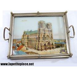 Plateau souvenir Cathédrale de Reims - début 20e Siècle