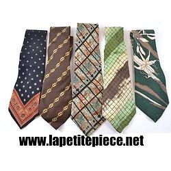 Lot 5 cravates vintage - Leonard Paris, Paco Rabanne, Nina Ricci ...