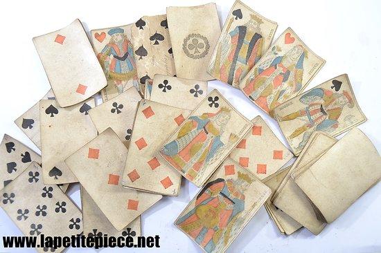 Jeu de cartes ancien, papier. Première moitié du 19e Siècle