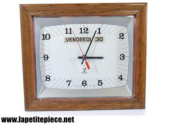 Horloge murale JAZ Transistor avec jours de la semaine