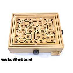 Labyrinthe, jeu d'adresse en bois