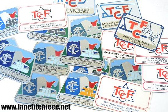 Plaque Rallye caravane TCF (Touring Club de France)