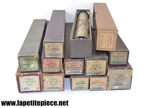 Collection rouleaux partitions piano mécanique