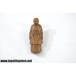 Figurine en bois sculpté de style asiatique