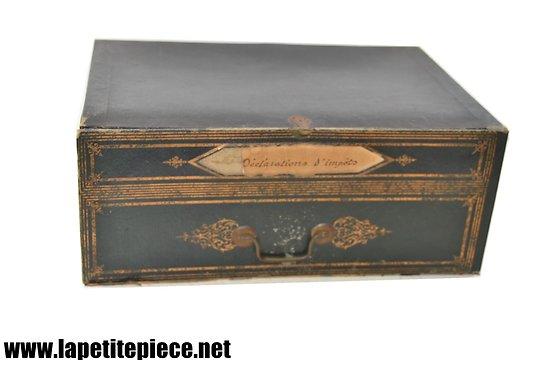 Tiroir de meuble cartonnier / secrétaire 19e Siècle