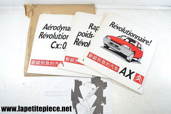 Mobile publicitaire Citroën AX - La Publicité Française PARIS 1986. Déco garage / concession automobile