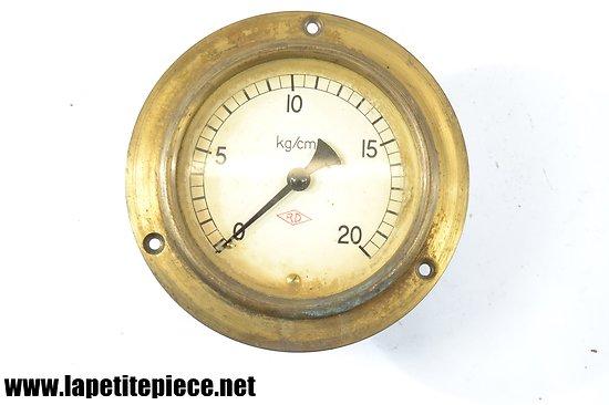 Manomètre de mesure Kg/cm² RD, tour laiton