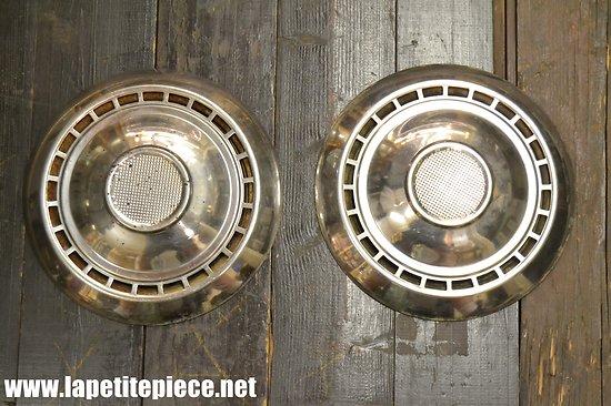 Lot x 2 -  enjoliver métal chromé - Banes & Cie Paris