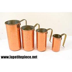 Doseurs en cuivre étamé