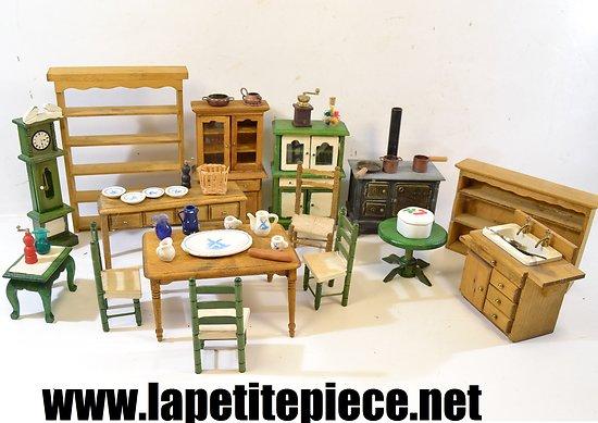 Ensemble De Meubles Miniatures Pour Diorama Maison De Poupée