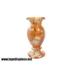 Vase pied douche en onyx 14,5cm
