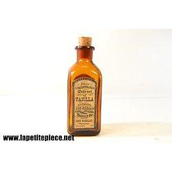 Flacon Extrait de vanille 14,5cm - étiquette repro