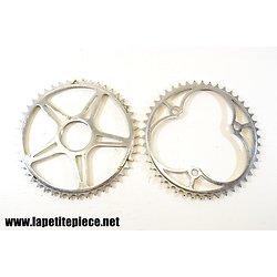 Lot de deux roues dentées pour cycles