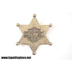 Badge Harley Davidson Motor Cycles - étoile de shérif