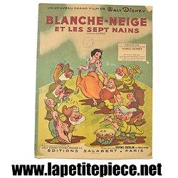 Blanche-neige et les sept nains, partition piano de luxe années 1940'