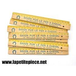 Double décimètre publicitaire Savon pur Le Fer à Cheval (Savon de Marseille)