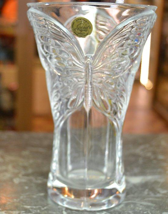 Vase Papillons Cristal D Arques France