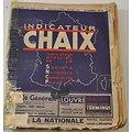 Indicateur CHAIX SNCF service d'hiver Janvier 1938