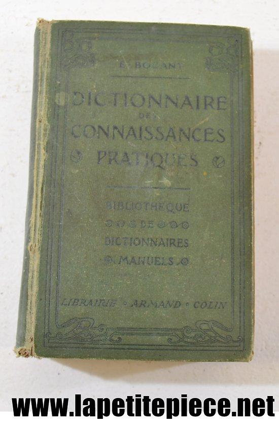 Dictionnaire de connaissances pratiques E. BOUANT 1904