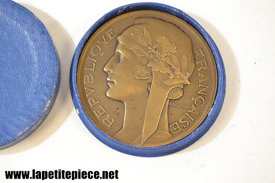 Médaille de table en bronze Sports et Loisirs, Morlon République Française