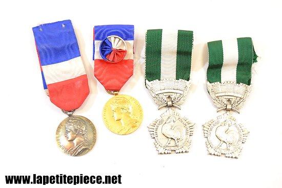 Lot médailles du travail et collectivités locales