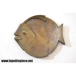 Vide poche en bronze, forme de poisson