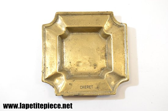 Cendrier en bronze gravé CHERET