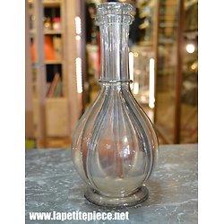 Bouteille en verre soufflé 4 compartiments - fin 19e - début 20e Siècle