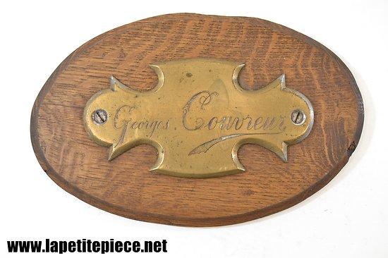 Plaque en laiton nominative - Georges Couvreur