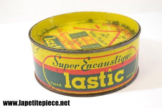 Boite d'encaustique LASTIC - années 1950 - 1970