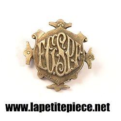 Broche en métal argenté EGSPF, Gymnastique