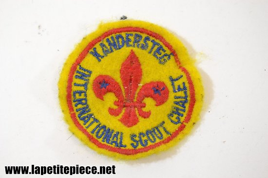 Patch scout - INTERNATIONAL SCOUT CHALET KANDERSTEG (Suisse)