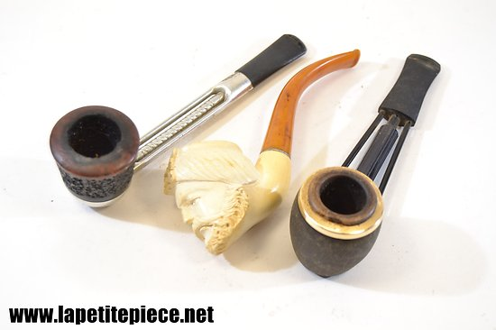 Lot 3 pipes de collection.