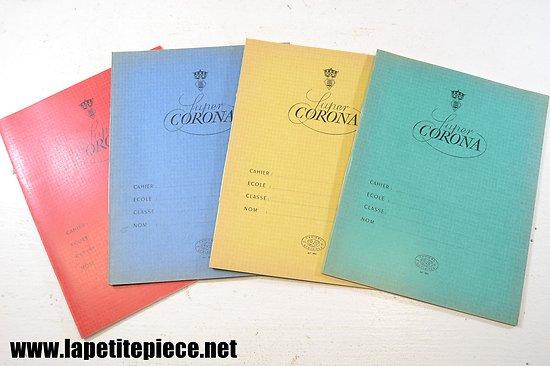 Cahiers de classe SUPER CORONA années 1950