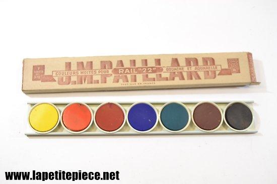 Gouache aquarelle JM Paillard années 1950 - 1960 - Rail 22