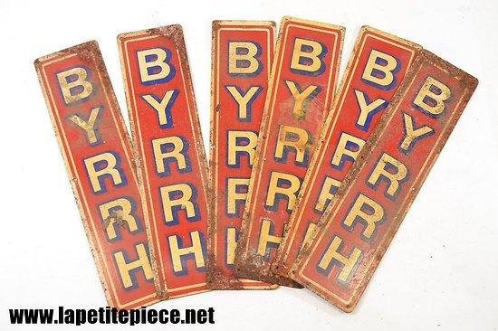Plaque de bar publicitaire BYRRH - années 1930 - 1950