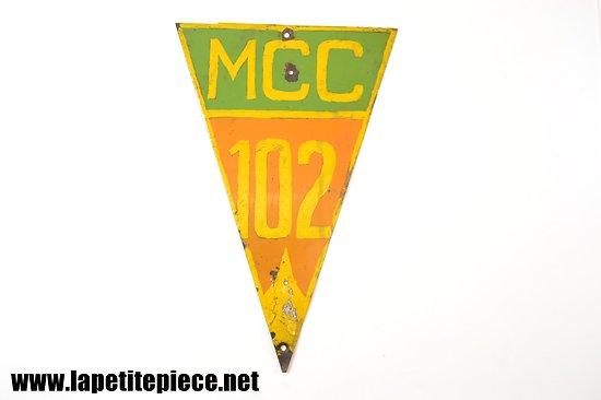 Plaque de rallye automobile ancien MCC