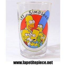 Verre Les Simpsons par Amora 1997. Lisa et Maggie