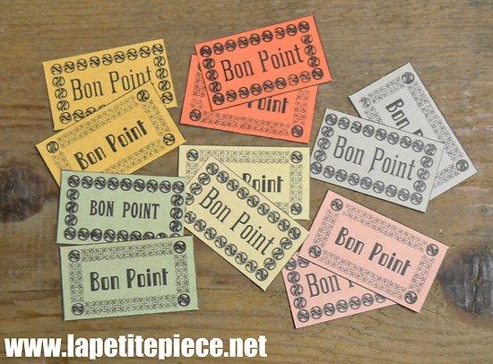 """Lot de 12 """"bon point"""" d'école, années 1950 - 1970"""