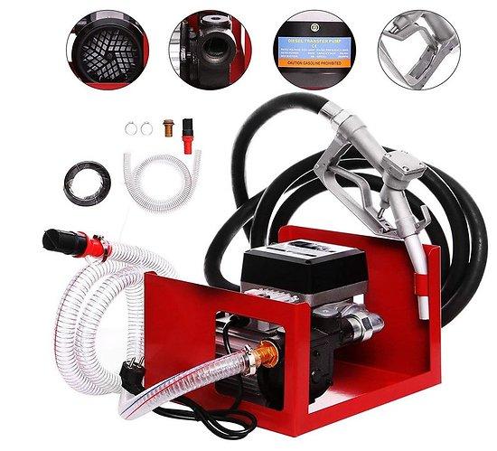 Pompe à mazout  230V 550W avec compteur, tuyaux, pistolet, ..