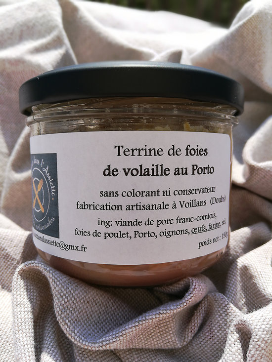 Terrine de foies de Volaille au Porto