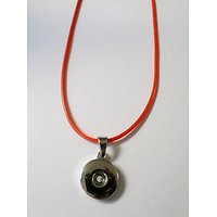 Collier Pendentif Cordon Orange Ajustable