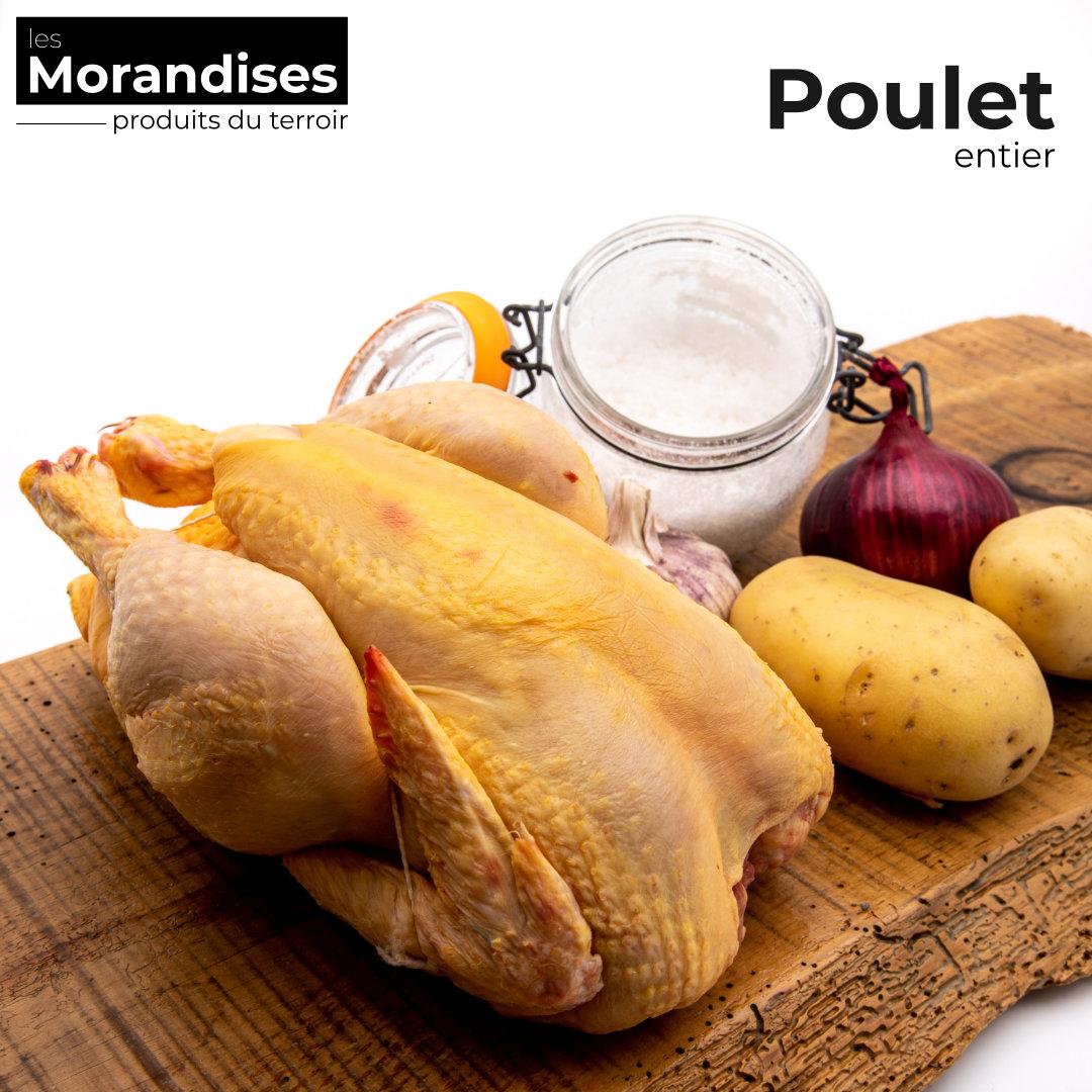 Poulet entier élevé en Dordogne - Epicerie les Morandises à Pau Idron