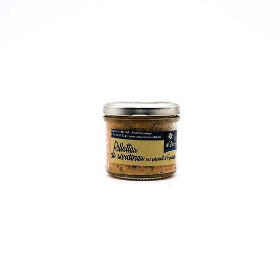 Rillettes de sardines au piment d'Espelette 90g