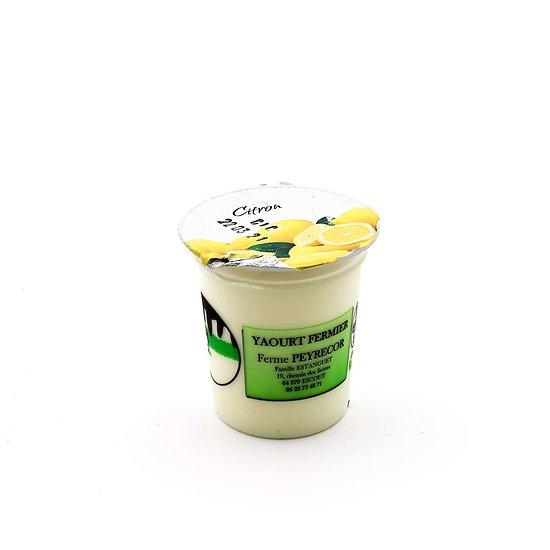 Yaourt de vache citron 125g